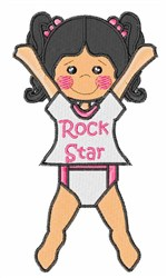 Rock Star embroidery design