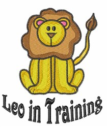 Leo In Training embroidery design
