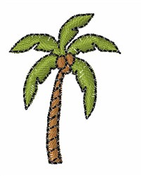 Coconut Palm embroidery design