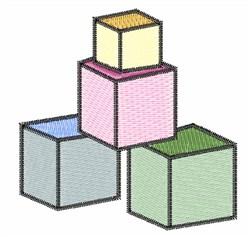 Blocks embroidery design