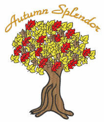 Autumn Splendor embroidery design