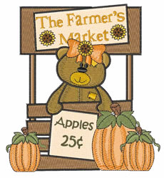 Farmers Market embroidery design