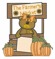 The Farmers Market embroidery design