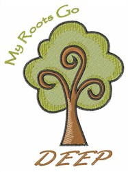 Roots Go Deep embroidery design