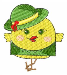 St. Pattys Chick embroidery design