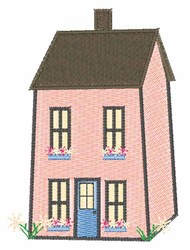 Pink House embroidery design