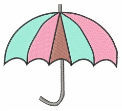 Pink & Blue Umbrella embroidery design