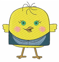 Chick in Shirt embroidery design