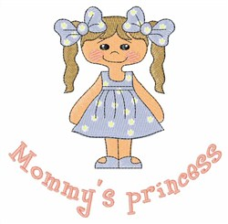 Mommys Princess embroidery design