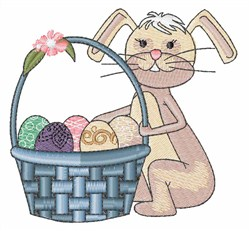 Easter Bunny & Basket embroidery design