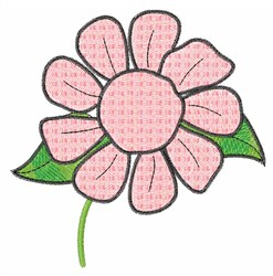 Pink Daisy embroidery design