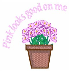 Pink Looks Good embroidery design