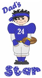 Dads Football Star embroidery design