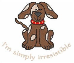 Irresistible Pup embroidery design