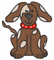 Brown Pup embroidery design