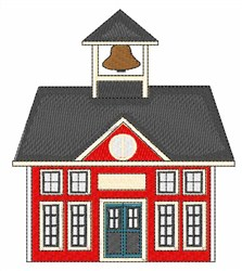 Red School House embroidery design