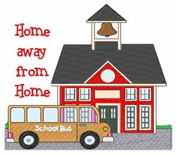 Home Away From Home embroidery design
