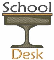School Desk embroidery design