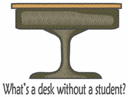 Desk Without Student embroidery design