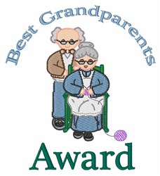 Grandparent Award embroidery design