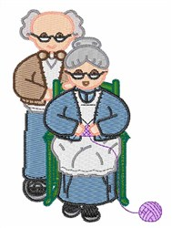 Grandparents embroidery design