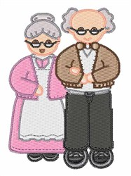 Grandmother Grandfather embroidery design