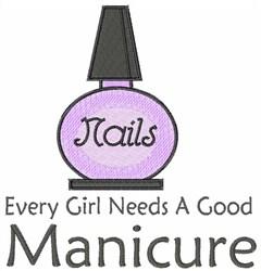 Manicure Nail Polish embroidery design