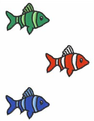 Cute Fish embroidery design