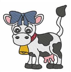 Pretty Cow embroidery design