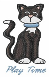 Play Time Cat embroidery design