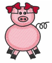 Cartoon Pig embroidery design