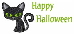 Happy Halloween Cat embroidery design