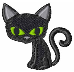 Cartoon Black Cat embroidery design