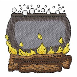 Witches Boiling Pot embroidery design