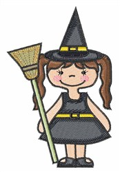 Cartoon Witch embroidery design