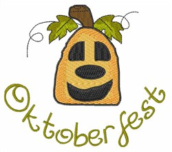 Oktoberfest Pumpkin embroidery design