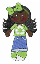 Girl Recycling embroidery design