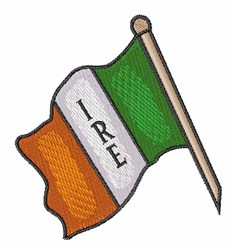 IRE Flag embroidery design