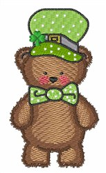 Bear in Green Hat embroidery design