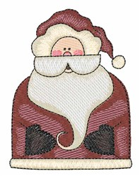 Holiday Santa embroidery design