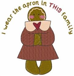I Wear Apron embroidery design