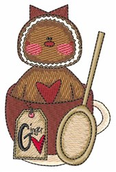 Gingerbread Baker embroidery design