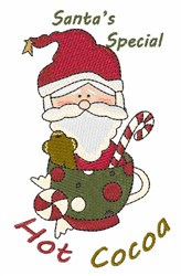Santa Cocoa embroidery design