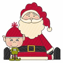Santa & Elf embroidery design