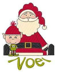 Noel Santa embroidery design