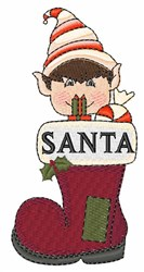 Santas Boot embroidery design