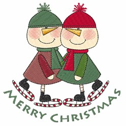 Christmas Skaters embroidery design