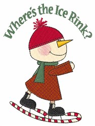 Wheres The Rink embroidery design