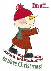 Save Christmas embroidery design