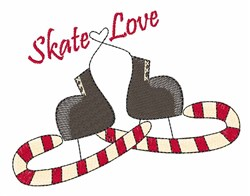Skate Love embroidery design